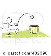 Stickler Man Tossing A Bag Into A Basket 3 by Johnny Sajem