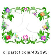 Pretty Floral Frame 5