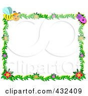 Bug And Floral Frame