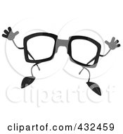 3d Pair Of Glasses Jumping