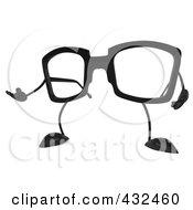 3d Pair Of Glasses Gesturing - 1