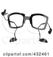 3d Pair Of Glasses With An Idea