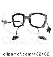 3d Pair Of Glasses Pointing