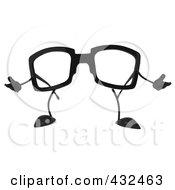 3d Pair Of Glasses Gesturing - 2