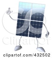 Royalty Free RF Clipart Illustration Of A 3d Solar Panel Character With An Idea