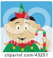 Clipart Illustration Of A Mexican Boy Dressed As A Christmas Elf by Dennis Holmes Designs