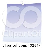 Royalty Free RF Clipart Illustration Of A Purple Memo Note With A White Push Pin