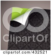 Royalty Free RF Clipart Illustration Of A Turning Floral Paper On Gray 2 by michaeltravers
