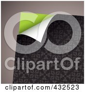 Royalty Free RF Clipart Illustration Of A Turning Floral Paper On Gray 1 by michaeltravers