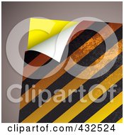 Royalty Free RF Clipart Illustration Of A Turning Hazard Stripes Paper On Gray by michaeltravers