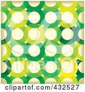 Royalty Free RF Clipart Illustration Of A Grungy Green Circle Pattern Background by michaeltravers #COLLC432527-0111