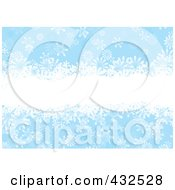 Royalty Free RF Clipart Illustration Of A Blue Snowflake Background With White Text Space by michaeltravers