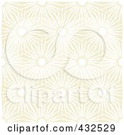 Royalty Free RF Clipart Illustration Of A Beige Floral Pattern Background