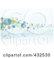 Royalty Free RF Clipart Illustration Of A Blue And Beige Bubble Background 3