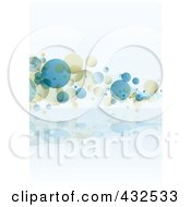 Royalty Free RF Clipart Illustration Of A Blue And Beige Bubble Background 1