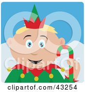 Clipart Illustration Of A Caucasian Boy Dressed As A Christmas Elf by Dennis Holmes Designs