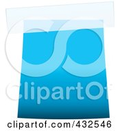 Royalty Free RF Clipart Illustration Of A Blank Blue Label With Tape 1