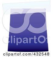 Royalty Free RF Clipart Illustration Of A Blank Blue Label With Tape 2 by michaeltravers