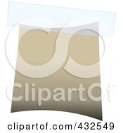 Royalty Free RF Clipart Illustration Of A Blank Beige Label With Tape 1