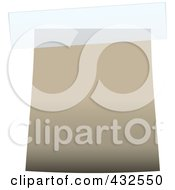 Royalty Free RF Clipart Illustration Of A Blank Beige Label With Tape 2