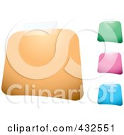 Royalty Free RF Clipart Illustration Of A Digital Collage Of Colorful Blank Square Labels With Tape by michaeltravers