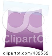 Royalty Free RF Clipart Illustration Of A Blank Purple Label With Tape