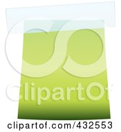 Royalty Free RF Clipart Illustration Of A Blank Green Label With Tape by michaeltravers