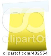 Royalty Free RF Clipart Illustration Of A Blank Yellow Label With Tape by michaeltravers