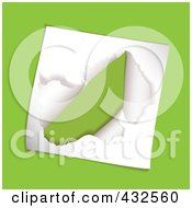 Royalty Free RF Clipart Illustration Of Torn Paper On Green by michaeltravers