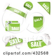 Royalty Free RF Clipart Illustration Of A Digital Collage Of Sale Icons 2