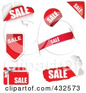 Royalty Free RF Clipart Illustration Of A Digital Collage Of Sale Icons 3