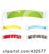 Royalty Free RF Clipart Illustration Of A Digital Collage Of Colorful Blank Banners With Tape 1