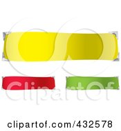 Royalty Free RF Clipart Illustration Of A Digital Collage Of Three Colorful Blank Banners With Place Holders