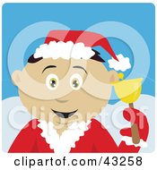 Clipart Illustration Of A Mexican Bell Ringer Boy Calling For Christmas Donations