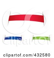 Royalty Free RF Clipart Illustration Of A Digital Collage Of Colorful Blank Banners With Tape 2