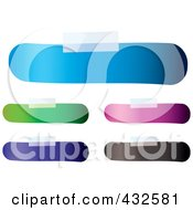 Royalty Free RF Clipart Illustration Of A Digital Collage Of Blank Colorful Bandage Shaped Labels With Tape by michaeltravers
