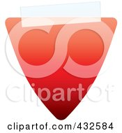 Royalty Free RF Clipart Illustration Of A Blank Red Triangle Label With Tape by michaeltravers