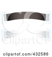 Royalty Free RF Clipart Illustration Of A Digital Collage Of Black And White Blank Banners With Tape
