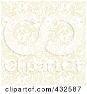 Royalty Free RF Clipart Illustration Of A Seamless Beige Floral Pattern Background