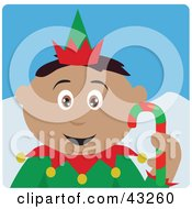 Clipart Illustration Of A Hispanic Boy Dressed As A Christmas Elf by Dennis Holmes Designs