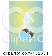 Royalty Free RF Clipart Illustration Of A Big Satellite On Earth by xunantunich