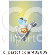 Royalty Free RF Clipart Illustration Of A Lion In Orbit Around Earth