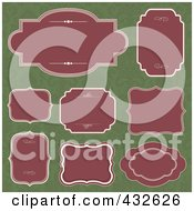 Royalty Free RF Clipart Illustration Of A Digital Collage Of Blank Frame Designs 2 by BestVector