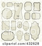 Royalty Free RF Clipart Illustration Of A Digital Collage Of Blank Frame Designs 1 by BestVector