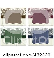 Royalty Free RF Clipart Illustration Of A Digital Collage Of Blank Frame Designs 4 by BestVector