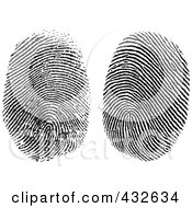 Royalty Free RF Clipart Illustration Of A Digital Collage Of Two Fingerprints by BestVector