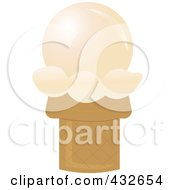 Royalty Free RF Clipart Illustration Of A Vanilla Sugar Ice Cream Cone by Pams Clipart