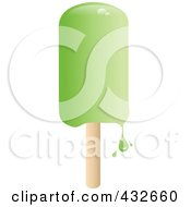 Royalty Free RF Clipart Illustration Of A Dripping Green Popsicle