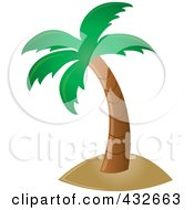 Royalty Free RF Clipart Illustration Of A Perfect Tropical Palm Tree by Pams Clipart