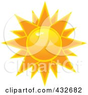 Royalty Free RF Clipart Illustration Of A Hot Shiny Summer Sun by Pams Clipart